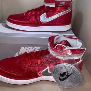Nike Supreme Vandal High Red Grey Mens Size 10.5